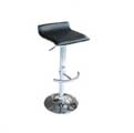 Set of 2 Adjustable Swivel Retro-style Pub Barstools - Black
