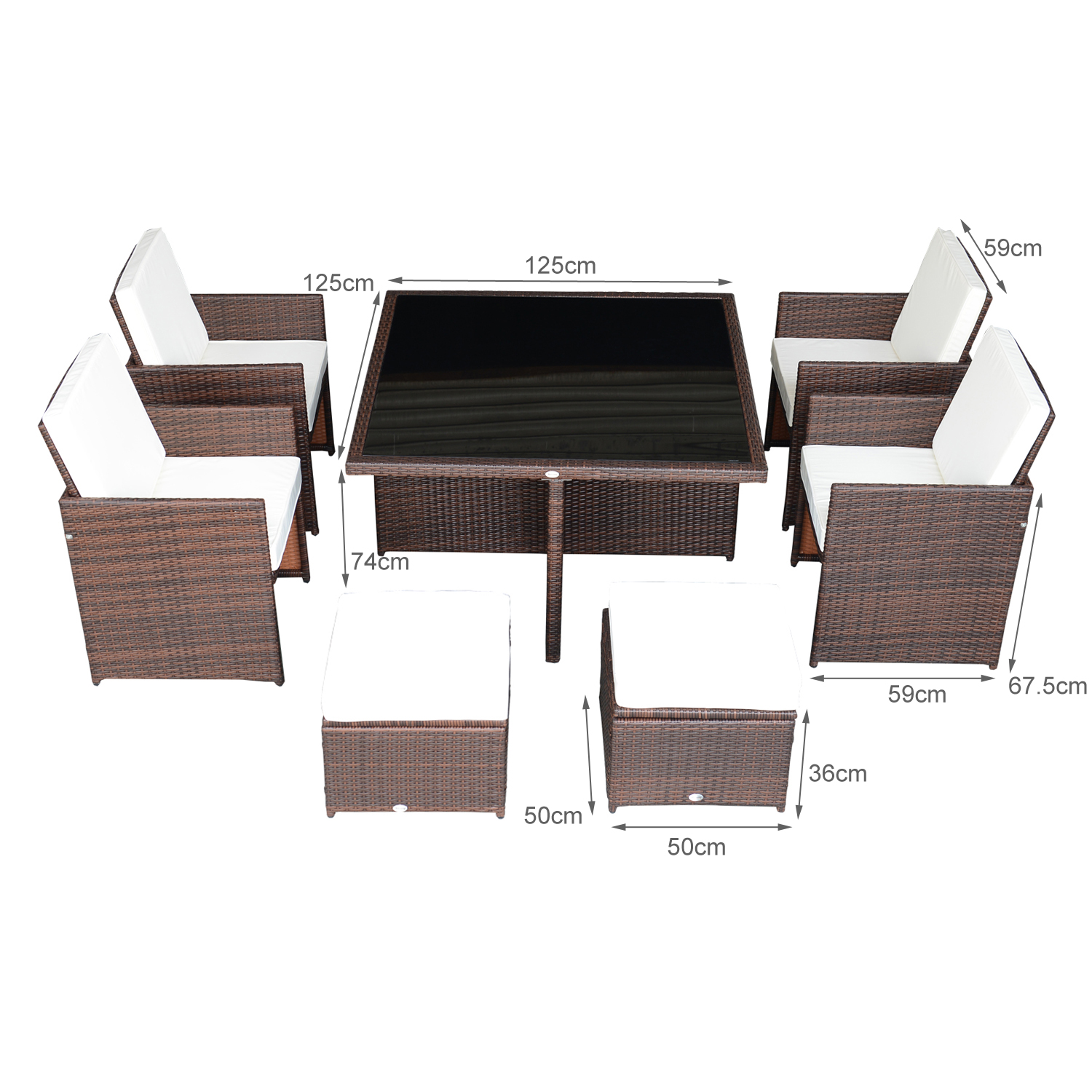 New 9pc Outdoor Rattan Wicker Cube Nesting Dining Table Sectional . Full resolution  portraiture, nominally Width 1500 Height 1500 pixels, portraiture with #705751.